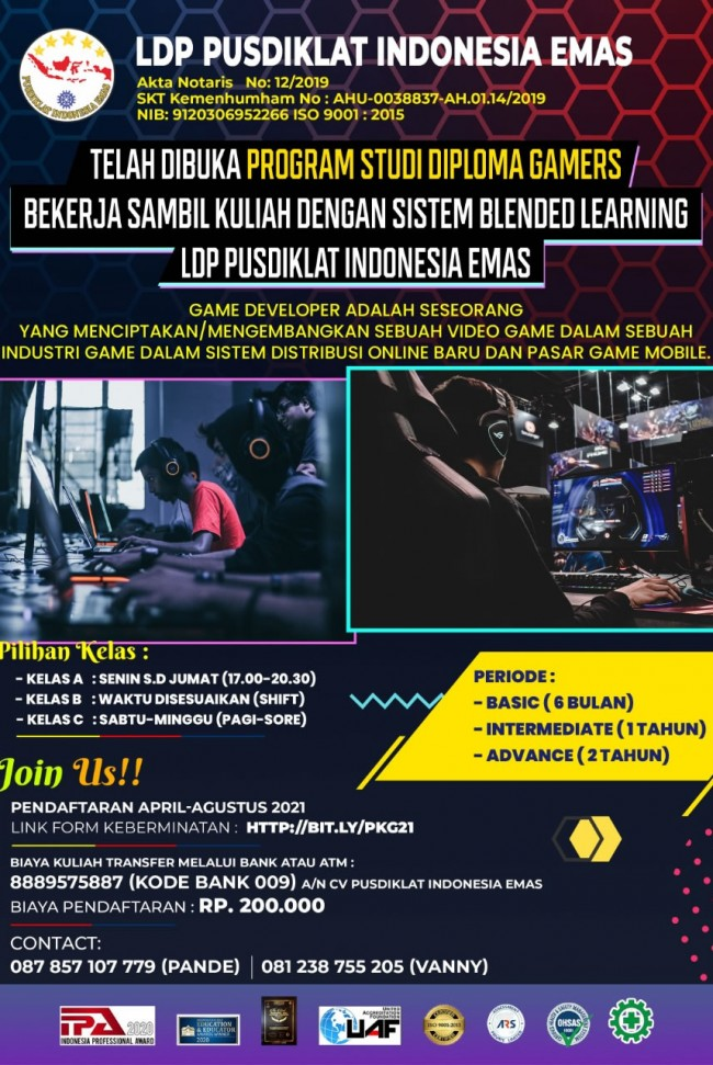 Program Studi Diploma Gamers