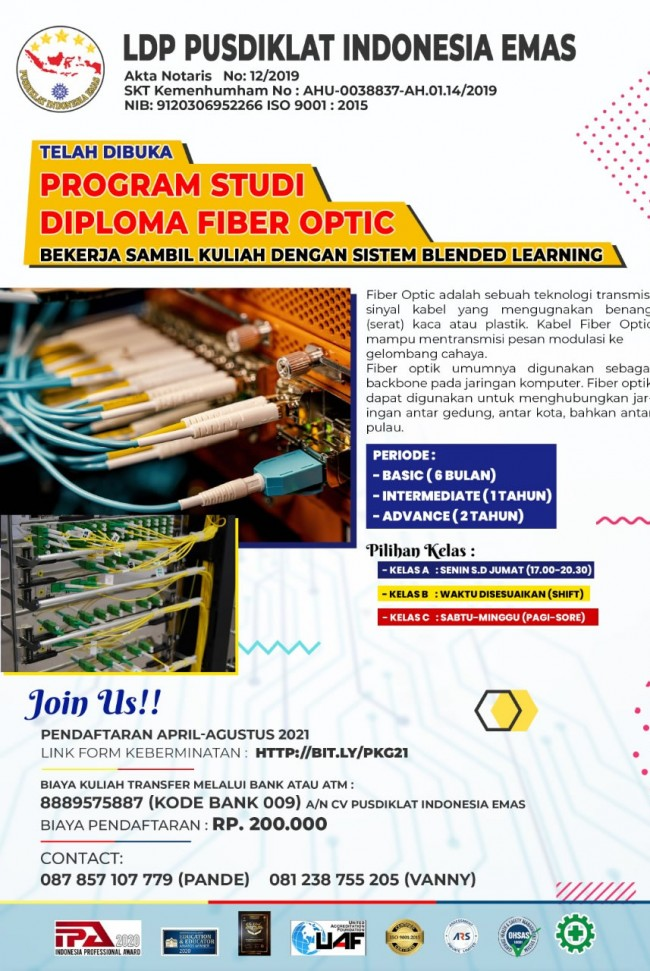 Program Studi Diploma Fiber Optic